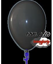 Palloncino nero 12 pollici/cm.30 pastello gonfiato ad elio