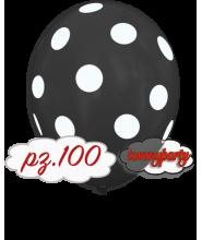 "Palloncini 12"" stampa globo pois nero pz.100"