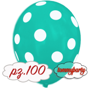 "Palloncini 12"" stampa globo pois acquamarina pz.100"
