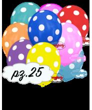 """Palloncini 12"""" stampa globo pois colori assortiti pz.100"""