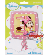 "Baby Minnie 18"" 1° compleanno palloncino"