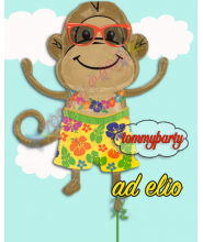 Monkey Luau Boy Shape ss p35 composizione