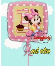 """Baby Minnie 18"""" 1° compleanno composizione"""