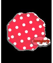Rosso a Pois 10 Piatti 18 cm. cartoncino