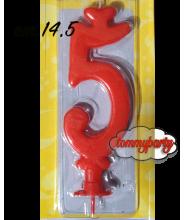 Candela rossa n.5 Max cera
