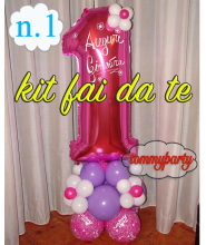 kit 1 Mylar cm.100 ad aria + base in lattice