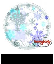 """Fiocco di neve cm.45/18"""" palloncino"""