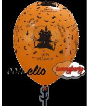 Palloncino casa Halloween 12 pollici/cm.30 gonfiato ad elio