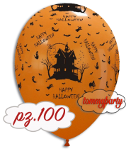 "Palloncini 12"" stampa casa aranc. pz.100"