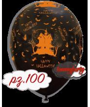 """Palloncini 12"""" stampa casa nero. pz.100"""