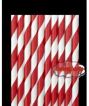 Cannucce in carta riga rosso cm.20 pz.24