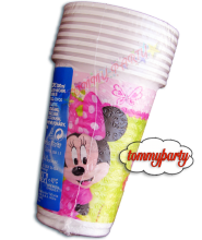 Minnie Bow-Tique 8 bicchieri plastica