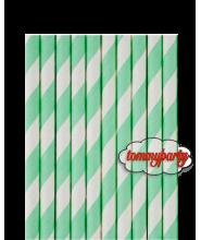 Cannucce in carta riga menta cm.20 pz.24