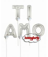 """Scritta """"Ti Amo"""" con lettere foil da cm.20/8"""""""
