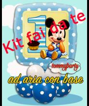 """Baby Mickey 18"""" 1 compleanno kit fai da te"""