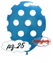 "Palloncini 12"" stampa globo pois blu medio pz.100"