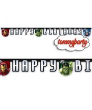Avengers festone buon compleanno