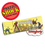 Avengers Power 20 biglietti invito