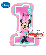 "Minnie 1ST Birthday Supershape (35"")"