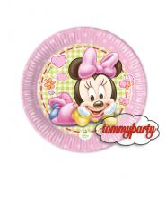Baby Minnie 8 piattini 18 cm