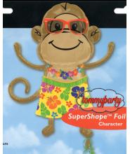 Monkey Luau Boy Shape ss p35 palloncino