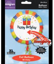 Happy Birthday Present S40 18 palloncino