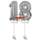 Numerone 18 Mylar cm.100 ad elio + accessori