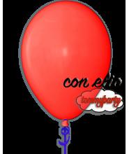 Palloncino rosso scuro pastello 12 pollici/cm.30 gonfiato ad elio