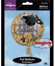 "Palloncino 18"" S40 Gold Grad Traditions"