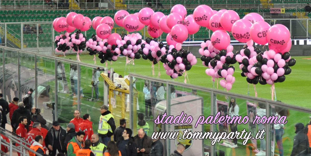 palloncini stadio palermo roma calcio.pn