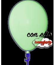 Palloncino verde chiaro 12 pollici/cm.30 pastello gonfiato ad elio