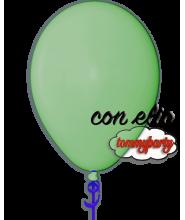 Palloncino verde medio 12 pollici/cm.30 pastello gonfiato ad elio