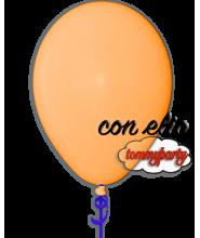 Palloncino arancione 12 pollici/cm.30 pastello gonfiato ad elio