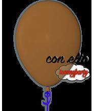 Palloncino marrone 12 pollici/cm.30 pastello gonfiato ad elio