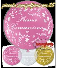 """Palloncino 22"""" Prima Comunione pastello Stampa Bianca"""