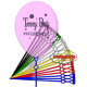 astine per palloncini 12 pollici/cm.30 pz.100
