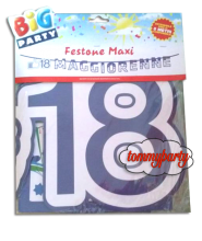 Festone 18 anni Faceparty mt.6