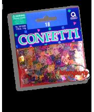 Confetti numerici 18 multicolor 14 gr.