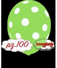 """Palloncini 12"""" stampa globo pois verde chiaro pz.100"""