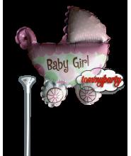 Baby buggy girl mini shape