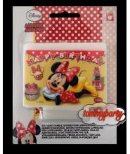 Minnie Caffè candelina decorata happy birthday