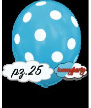 """Palloncini 12"""" stampa globo pois celeste pz.100"""
