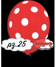 """Palloncini 12"""" stampa globo pois rosso scuro pz.100"""