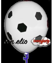 Palloncino stampa football Juventus gonfiato ad elio