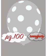 "Palloncini 12"" stampa globo pois trasparente pz.100"