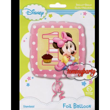 Palloncino Di Baby Minnie Primo Compleanno Tommyparty It