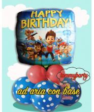 "Paw Patrol Happy Birthday 18"" composizione"