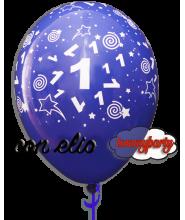 Palloncino stampa n.1 blu 12 pollici/cm.30 gonfiato ad elio
