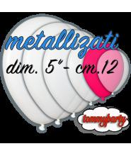 Palloncino 5 pollici cm.12 metallizzato pz.100