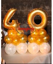 Centrotavola n.40 oro in mylar medio a 3 livelli